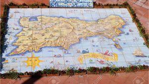 Capri island Italy Map Ceramic Map Of the island Of Capri Italy Stock Photo Picture and