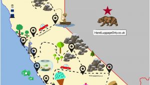 Cartoon Map Of California the Ultimate Road Trip Map Of Places to Visit In California Travel