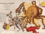 Cartoon Map Of Europe John Bull and His Friends A Propaganda Map Of Europe From