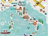 Cartoon Map Of Italy Cartoon Map Of Italy Printable Italian Tidbits In 2019 Italy
