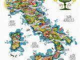 Cartoon Map Of Italy Italy Wines Antoine Corbineau 1 Map O Rama Italy Map Italian