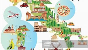 Cartoon Map Of Italy Travel Infographic Travel and Trip Infographic Cartoon Map Of