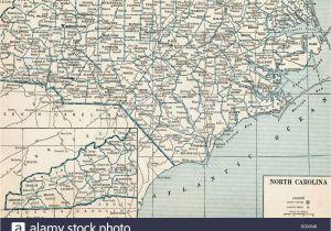 Cashiers north Carolina Map north Carolina State Map Stockfotos north Carolina State Map