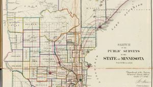 Cass Lake Minnesota Map Old Historical City County and State Maps Of Minnesota