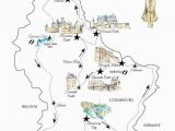 Castles Of France Map A Road Trip In Luxembourg Free Printable Map for A Great