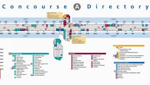 Charlotte north Carolina Airport Map atlanta Airport Terminal A Map