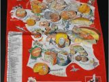 Cheese Map France Vintage French Cheeses Map Kitchen towel Ebay