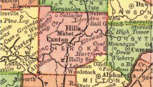 Cherokee County Georgia Map Georgiainfo