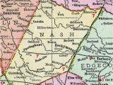 Cherry Point north Carolina Map Nash County north Carolina 1911 Map Rand Mcnally Nashville