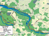 Chesapeake and Ohio Canal Map the C O Canal Bicycling Guide Mile 10 Thru 25