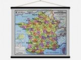 Cities In France Map France Departements Vintage Map