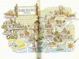 City Map Of Barcelona Spain Barcelona Map Print Vintage City Of Barcelona Spain Map