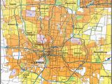 City Map Of Columbus Ohio City Map Sites Perry Castaa Eda Map Collection Ut Library Online