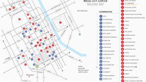 City Map Of Nashville Tennessee Walking Map Nashvillemusiccitycenter Com