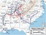 Civil War Battles In Georgia Map Western theater Of the American Civil War Wikipedia