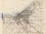Cleveland Ohio area Map Ohio Historical topographic Maps Perry Castaa Eda Map Collection