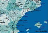 Coast Of Spain Map Detailed Map Of East Coast Of Spain Twitterleesclub