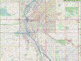 Colorado Detailed Road Map Large Detailed Street Map Of Denver