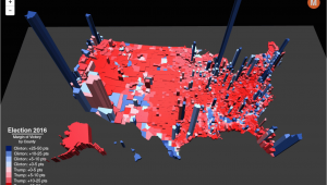 Colorado Election Results Map Election Results In the Third Dimension Metrocosm
