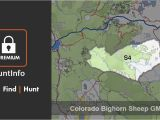 Colorado Elk Population Density Map Colorado Bighorn Sheep Hunting Unit S4 Huntinfo