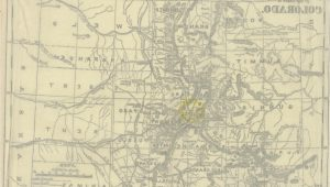 Colorado Gold Mines Map Map From Colorado A Historical Descriptive and Statistical Work