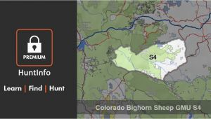 Colorado Hunting Zone Map Colorado Bighorn Sheep Hunting Unit S4 Huntinfo