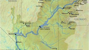 Colorado River Dams Map This Map Shows the Location Of Dams Along the Colorado River and Its