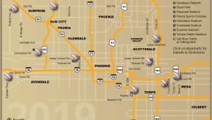Colorado Rockies Parking Map Cactus League Stadium Map