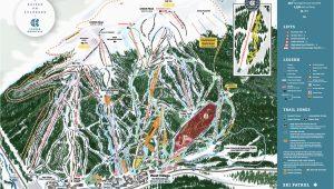 Colorado Ski Mountains Map Copper Winter Trail Map