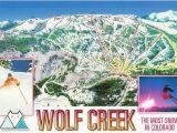 Colorado Ski Report Map Wolf Creek Ski Resort Colorado Trail Map Postcard Ski towns