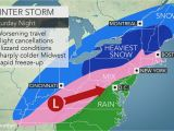Columbus Ohio Weather Map Midwestern Us Wind Swept Snow Treacherous Travel to Focus From