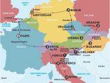 Contiki Europe Map Europe tours Trips 2016 2017 with Contiki World Travel
