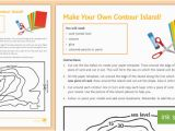 Contour Map Ireland Make Your Own Contour island Worksheet Contour Contour Lines Height