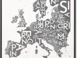 Copenhagen Europe Map Europe Map by Kortkartellet 50 X 70cm Wall Art Print