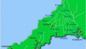 Cornwall On Map Of England Rivers Cornwall Map A A A N Cornwall Maps Cornwall