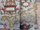 Cornwall On Map Of England Tudor Map Of Cornwall 1579 Christopher Saxton the