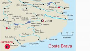 Costa Dorada Spain Map Map Of Costa Brave and Travel Information Download Free Map Of