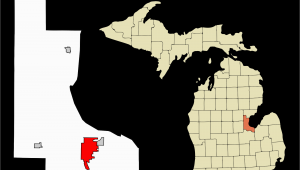 Counties In Michigan Map Datei Bay County Michigan Incorporated and Unincorporated areas Bay