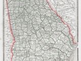 County and City Map Of Georgia Map Antique Georgia 1887 George F Cram Detailed Map Showing