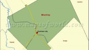 County and City Map Of Georgia Map Of Bleckley County In Georgia Usa County Map Pinterest