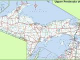 County Map Of Michigan with Roads Map Of Upper Peninsula Of Michigan