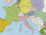 Croatia In Europe Map Map Of Europe Wallpaper 56 Images