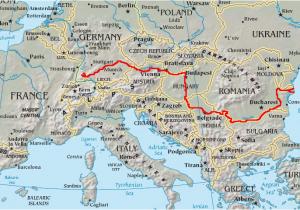 Danube River On Europe Map Danube Wikipedia