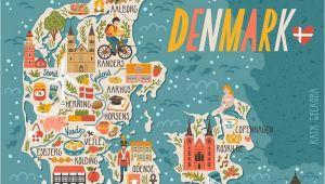 Denmark On Map Of Europe Denmark Map Denmark In 2019 Denmark Map Travel