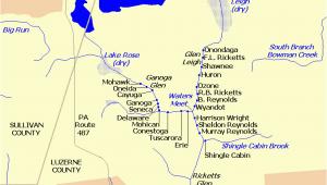 Denton Ohio Map Waterfalls In Ricketts Glen State Park Wikipedia