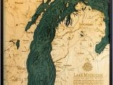 Depth Map Of Lake Michigan Lake Michigan Etsy