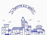 Deruta Italy Map Italian Flour Sack Dish towel town Of Deruta Italy Etsy