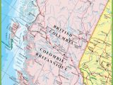 Detailed Map Of British Columbia Canada Large Detailed Map Of British Columbia with Cities and towns