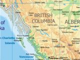 Detailed Map Of British Columbia Canada Physical Map Of British Columbia Canada