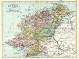 Detailed Map Of Donegal Ireland Donegal 1897 Antique Irish Map Of County Donegal Print 8 X 10ins Ships Worldwide